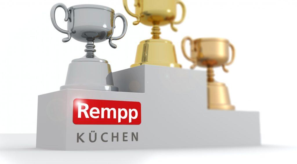 Siegertreppe mit Rempp auf dem zweiten Platz