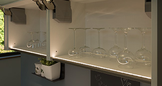 Küchengriff LED Kantenbeleuchtung ELKE