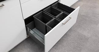 Küchengriff Einbau-Müllsystem EM